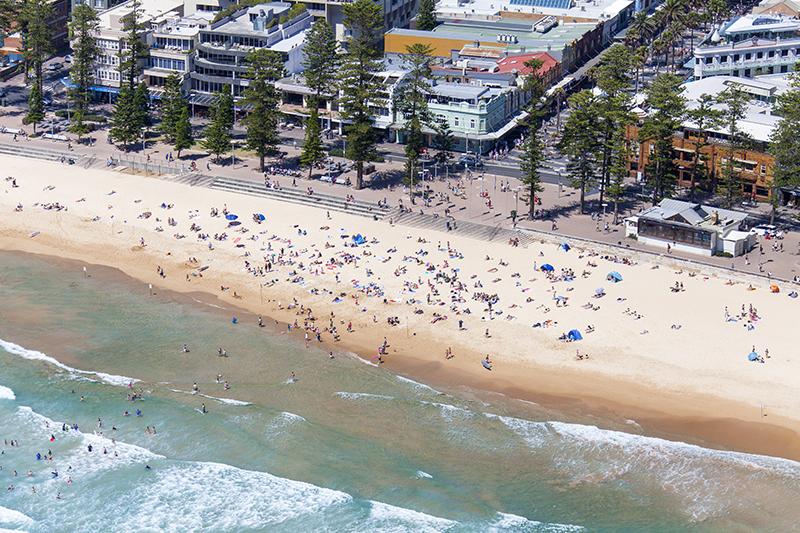 Praia, em Sydney